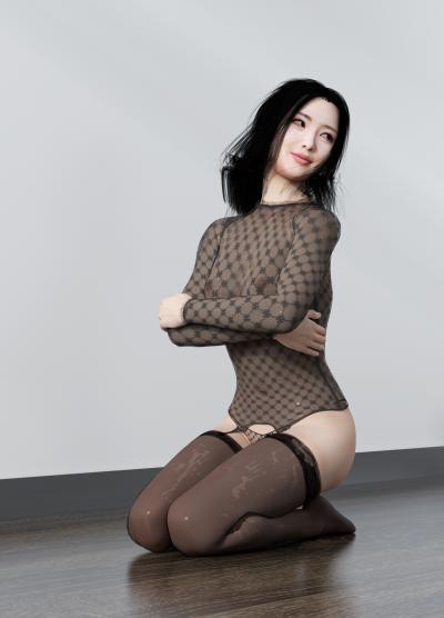 現代蕾絲內衣3D模型【ID:343210039】
