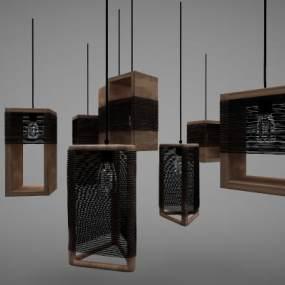 新中式风格吊灯3D模型【ID:744311860】