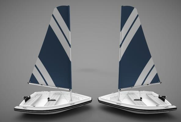 现代风格小船3D模型【ID:443145839】