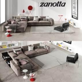 现代简约沙发国外3D模型【ID:632030837】
