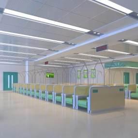 现代医院输液室3D模型【ID:934818755】