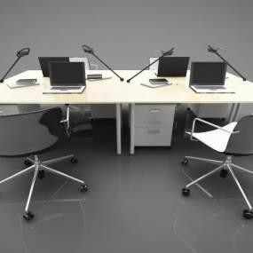 現代風格辦公桌3D模型【ID:950605104】