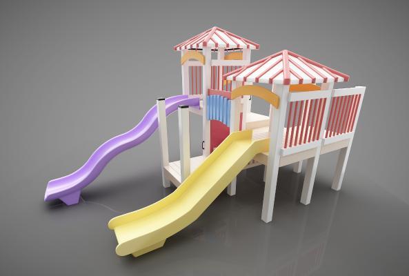 現代風格兒童器材3D模型【ID:447382154】