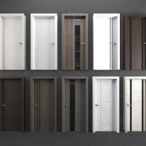 现代单开门房门3D模型【ID:345702145】