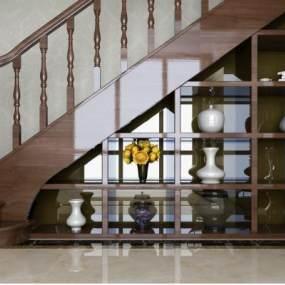 欧式楼梯3D模型【ID:136191396】