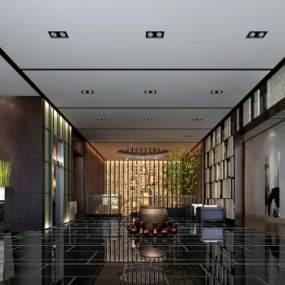现代酒店大厅3D模型【ID:733096083】