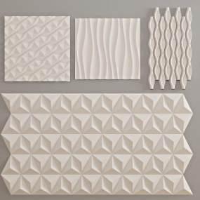 现代背景墙造型3D模型【ID:243397781】