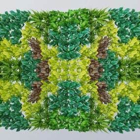 现代绿植墙3D模型【ID:335849634】