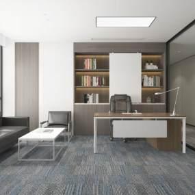 现代经理办公室3D模型【ID:952959088】