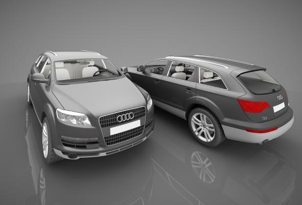 現代風格小汽車3D模型【ID:441829735】