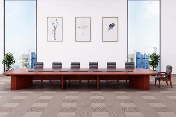 现代会议桌3D模型【ID:944198599】