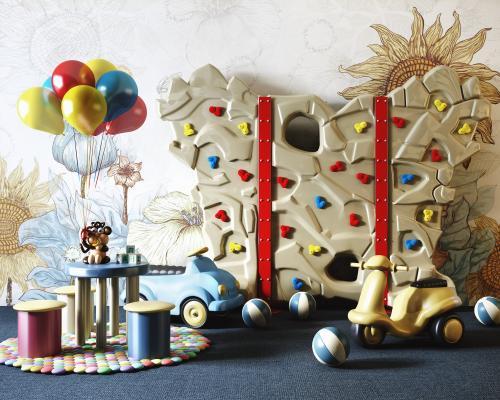 现代幼儿园早教儿童玩具推车3D模型【ID:445243160】