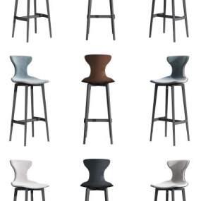 现代吧椅3D模型【ID:746888216】