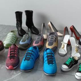 现代鞋子3D模型【ID:334535718】