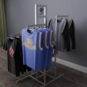 现代衣服衣架衣柜3D模型【ID:131970176】