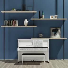 现代钢琴3D模型【ID:332765915】