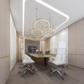 现代风格会议室3D模型【ID:943451124】