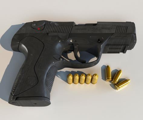 手枪-1100Beretta3D模型【ID:440631263】