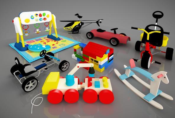 现代儿童活动器材3D模型【ID:441920111】