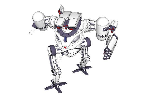 现代变形机器人玩具SU模型【ID:151891291】