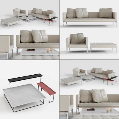 現代皮革雙人沙發3D模型【ID:645776707】