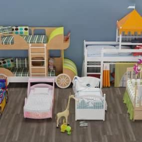 现代婴儿床3D模型【ID:831217826】
