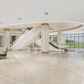 现代医院服务大厅3D模型【ID:935669737】