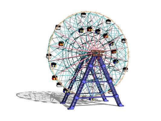 現代摩天輪SU模型【ID:145226028】