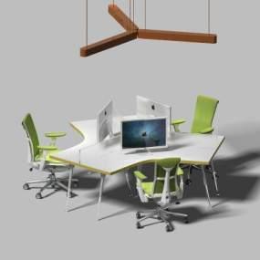 现代办公桌3D模型【ID:932469108】