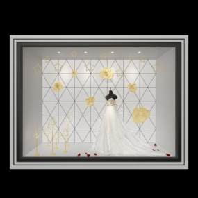 现代橱窗3D模型【ID:136231067】