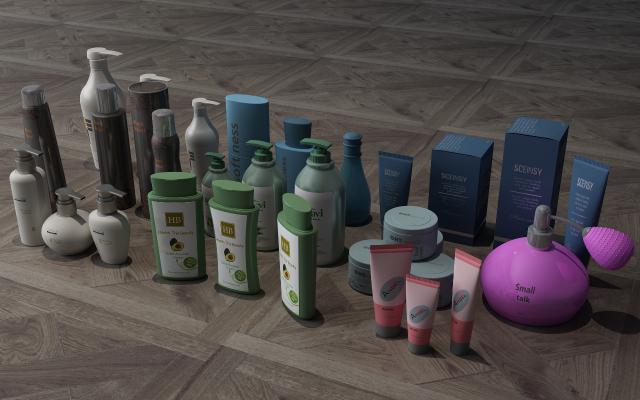 现代香水3D模型【ID:232027582】