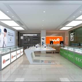 现代手机体验店3D模型【ID:943899846】