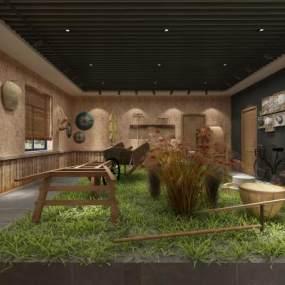 中式農貿社區3D模型【ID:951328993】