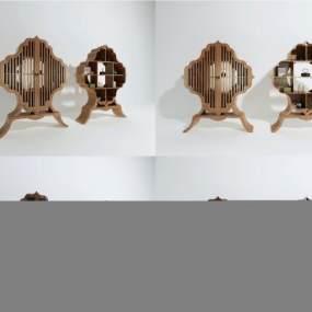 新中式裝飾柜組合3D模型【ID:149229198】