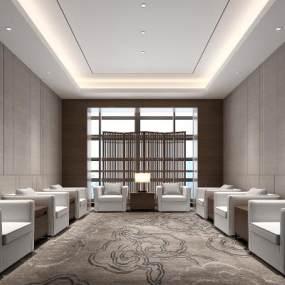 现代会客室3D模型【ID:946850352】
