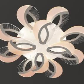 现代花形吸顶灯3D模型【ID:735772824】