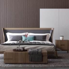 现代卧室3D模型【ID:842571730】