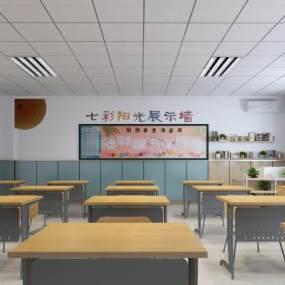 现代小学普通教室3D模型【ID:934512648】