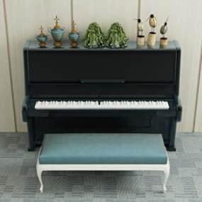 现代钢琴3D模型【ID:334914931】