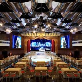 现代酒店宴会厅3D模型【ID:734473212】