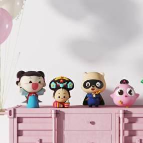 现代儿童玩具公仔3D模型【ID:344694406】