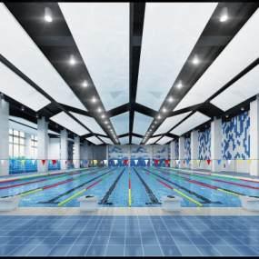 现代游泳池3D模型【ID:630994955】