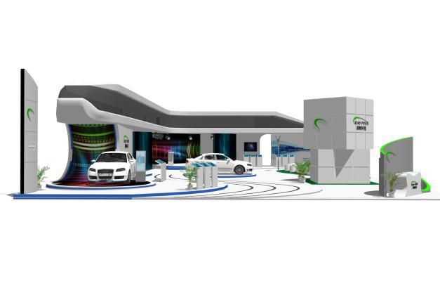 现代汽车展厅展览4S店SU模型【ID:245493515】