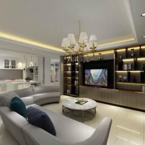 现代家具展厅3D模型【ID:935411723】