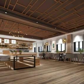 北欧咖啡馆3D模型【ID:632325302】