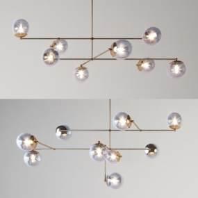 現代吊燈組合3D模型【ID:748617809】