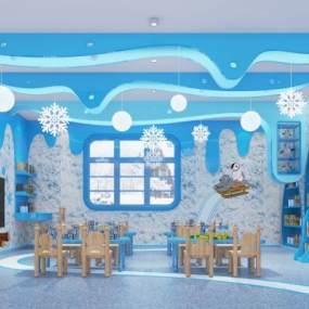 北欧幼儿园课室3D模型【ID:943542604】