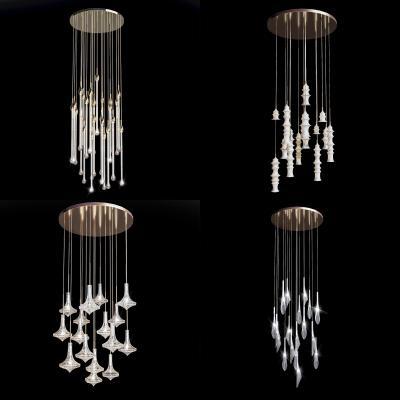 現代輕奢大吊燈組合3D模型【ID:751032845】