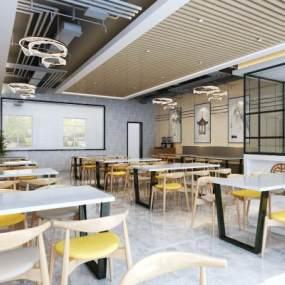 新中式餐館3D模型【ID:646758233】