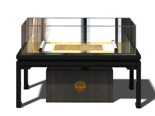 中式展柜3D模型【ID:132529187】